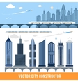 Elements for construction city in vector image