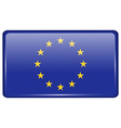 Flags European Union in the form of a magnet on vector image