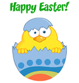 Happy Easter Chick vector image