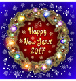 Happy New Year 2017 and Christmas greeting card vector image