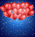 heart balloons vector image