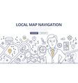 Map Navigation Doodle Concept vector image