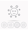 Moon and stars icon Night or sleep sign vector image