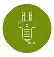 plug icon in thin line style vector image