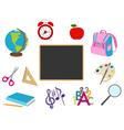 School cartoon objects vector image