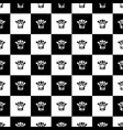 seamless pattern as chess board vector image
