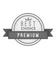 Label best choice premium icon vector image vector image
