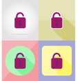service flat icons 12 vector image