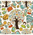 Social media icons tree pattern vector image