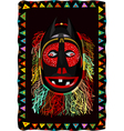 African fringed mask vector image