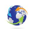 earth planet globe vector image