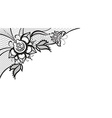 Abstract lace with elements of butterfly and vector image vector image