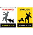 danger beware of dog vector image