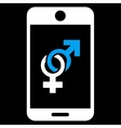 Mobile Dating Icon vector image