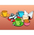 Coffee table with cups vector image