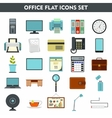 Modern cartoon icons set of office equipment vector image
