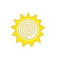 Abstract sun logo vector image