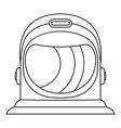 Astronaut helmet icon outline style vector image