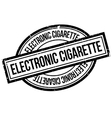 Electronic Cigarette rubber stamp vector image