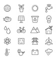 Environmental and Green Energy Icons Line vector image