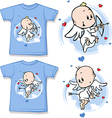 kid shirt with cute angel printed vector image