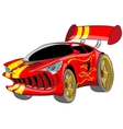 Red sport car vector image