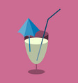 sweet dessert in flat design cocktail vector image