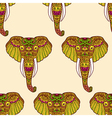 Zentangle stylized Indian Elephant Hand Drawn vector image