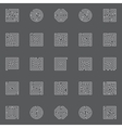 Maze line icons vector image vector image