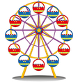 A ferris wheel vector image vector image