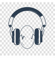 eggs between headphones black vector image