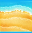 background with sea sand and waves vector image