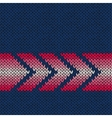 Arrow Knitted pattern vector image vector image
