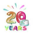 20 years anniversary vector image