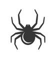 black spider icon vector image
