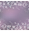 Violet Card With Bokeh vector image vector image