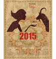 Calendar for 2015 year with a goat and Zodiac sign vector image vector image