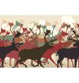 Reindeer herd vector image vector image