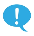 alert symbol speech bubble vector image