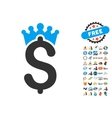 Business Crown Icon With 2017 Year Bonus Symbols vector image