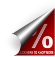 red coupon button vector image