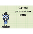 Crime prevention zone USA vector image vector image