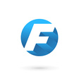 Letter F logo icon vector image