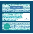 abstract ice chrystals texture horizontal banners vector image