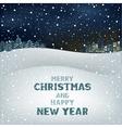 Christmas winter night vector image