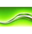 Abstract green background with wave vector image vector image