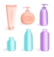 Set tube and jars in color vector image