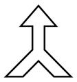 Combine Arrow Up Stroke Icon vector image