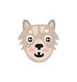 cute grey dog head funny cartoon animal character vector image