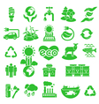 Eco Icons Silhouettes vector image